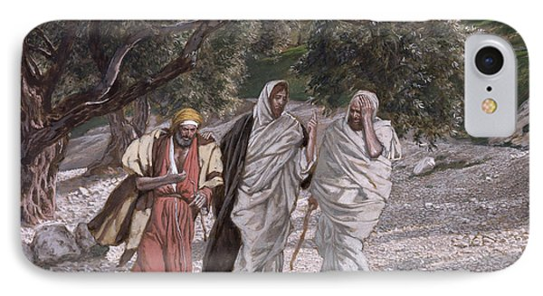 The disciples on the road to emmaus painting by tissot for Road case paint