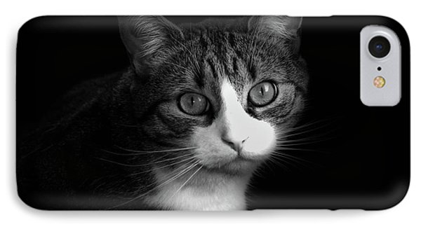 The Dog Did It - Black And White IPhone Case by Georgiana Romanovna