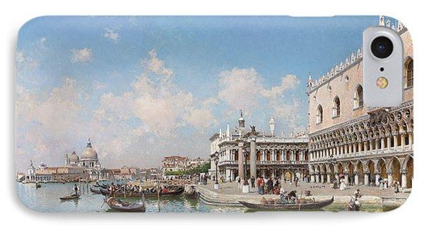 The Doge's Palace And Santa Maria Della Salute IPhone Case by Federico del Campo