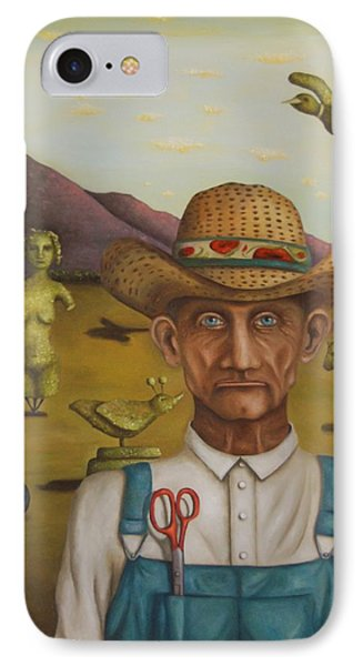 The Eccentric Farmer Phone Case by Leah Saulnier The Painting Maniac