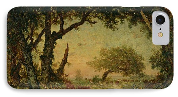 The Edge Of The Forest At Fontainebleau Phone Case by Theodore Rousseau