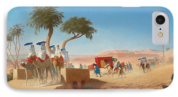 The Empress Eugenie Visiting The Pyramids IPhone 7 Case by Charles Theodore Frere