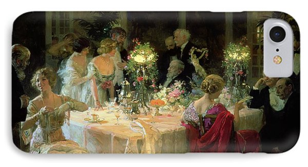 The End Of Dinner IPhone Case by Jules Alexandre Grun