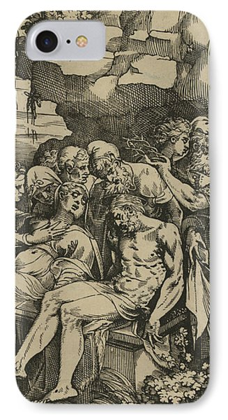 The Entombment Of Christ IPhone Case by Andrea Andreani