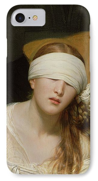 The Execution Of Lady Jane Grey IPhone 7 Case by Hippolyte Delaroche