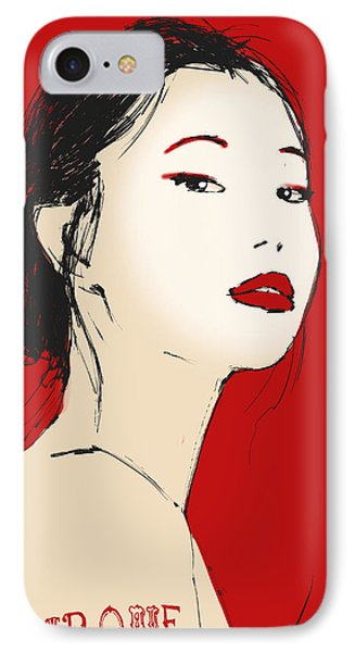 The Face IPhone Case by H James Hoff