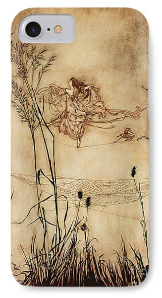 The Fairy's Tightrope From Peter Pan In Kensington Gardens IPhone Case by Arthur Rackham