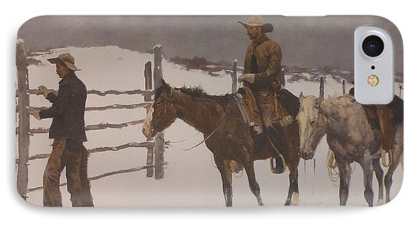 The Fall Of The Cowboy IPhone Case by Frederic Remington