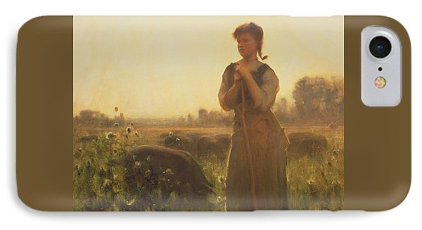 The Farm Girl IPhone Case by Arthur Hacker