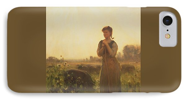 The Farm Girl IPhone 7 Case by Arthur Hacker