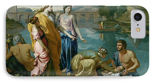 The Finding Of Moses Phone Case by Nicolas Poussin