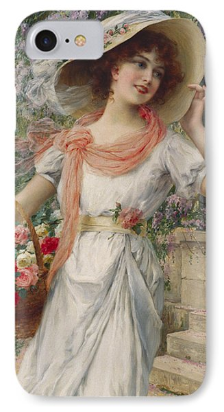 The Flower Girl IPhone Case by Emile Vernon