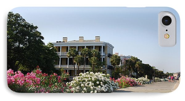 The Flowers At The Battery Charleston Sc Phone Case by Susanne Van Hulst