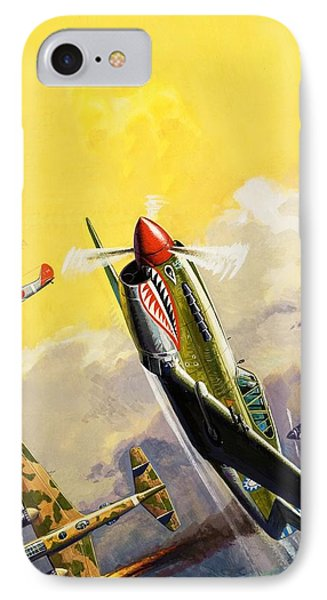 The Flying Tigers During The Spanish Civil War IPhone Case by Severino Baraldi