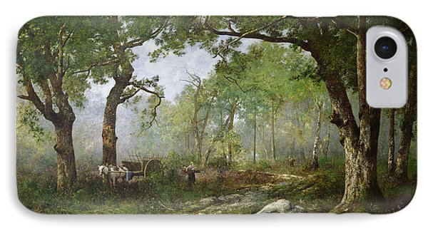 The Forest Of Fontainebleau IPhone Case by Leon Richet