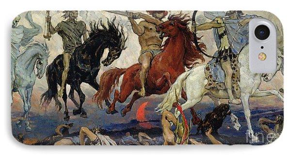 The Four Horsemen Of The Apocalypse IPhone Case by Victor Mikhailovich Vasnetsov