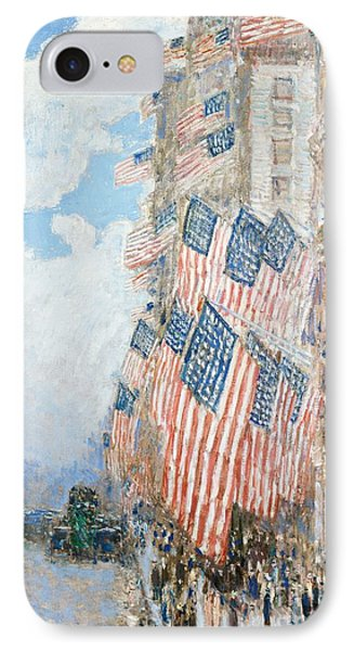 The Fourth Of July IPhone Case by Childe Hassam