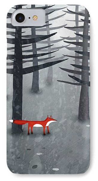 The Fox And The Forest IPhone Case by Nic Squirrell