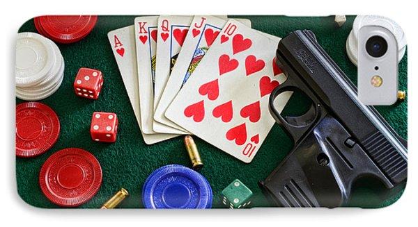 The Gambler Phone Case by Paul Ward