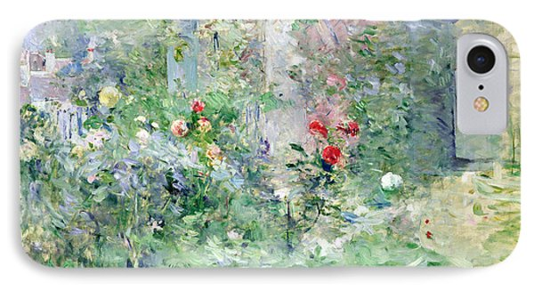 The Garden At Bougival IPhone Case by Berthe Morisot