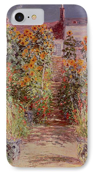 The Garden At Vetheuil IPhone Case by Claude Monet