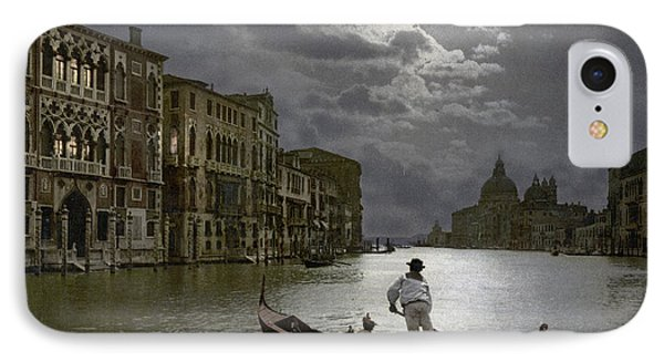 The Grand Canal Venice By Moonlight IPhone Case by Italian School
