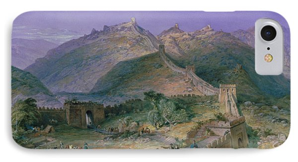 The Great Wall Of China IPhone Case by William Simpson