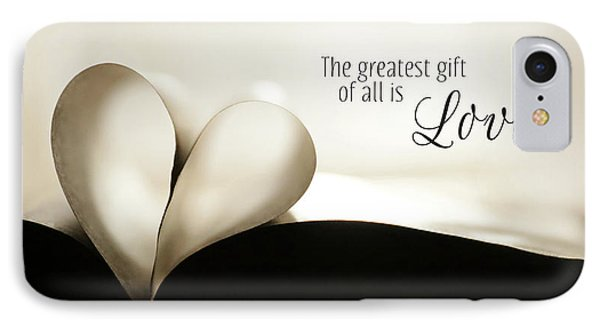 The Greatest Gift IPhone Case by Lori Deiter