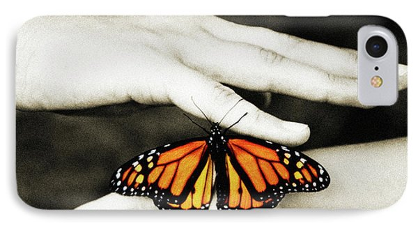 The Hands And The Butterfly IPhone Case by Andee Design