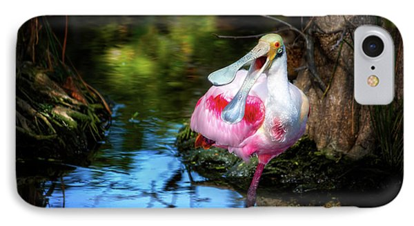 The Happy Spoonbill IPhone Case by Mark Andrew Thomas