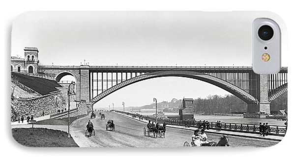The Harlem River Speedway IPhone Case by William Henry jackson