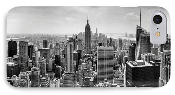 New York City Skyline Bw IPhone Case by Az Jackson