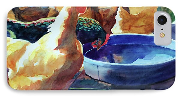 The Henhouse Watering Hole IPhone 7 Case by Kathy Braud