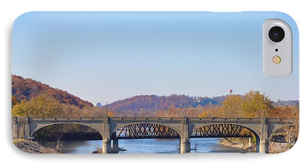 The Hill To Hill Bridge - Bethlehem Pa IPhone Case by Simon Wolter