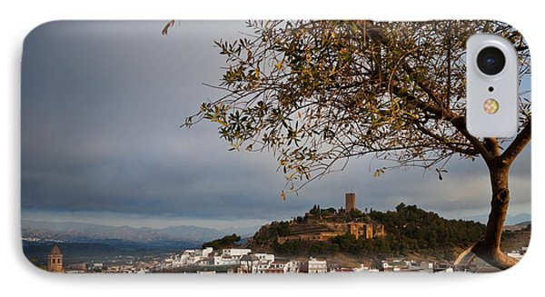 The Hilltop Castle And Town Of Valez IPhone Case by Panoramic Images