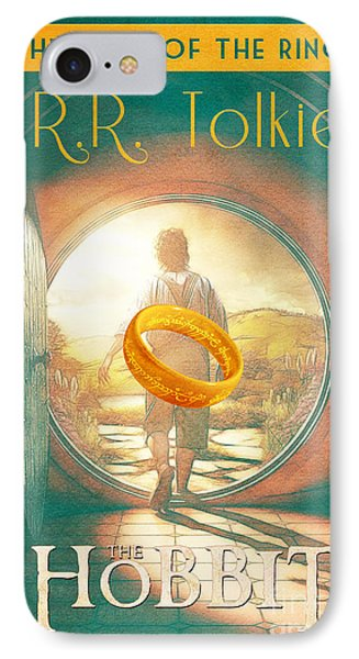 The Hobbit Lord Of The Rings Book Cover Movie Poster Art 1 IPhone Case by Nishanth Gopinathan