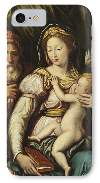The Holy Family With The Infant St John IPhone Case by Italian School
