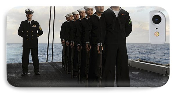 The Honor Guard Stands At Parade Rest IPhone Case by Stocktrek Images