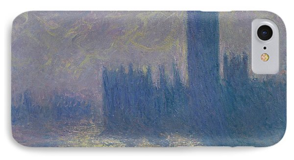 The Houses Of Parliament Stormy Sky IPhone Case by Claude Monet