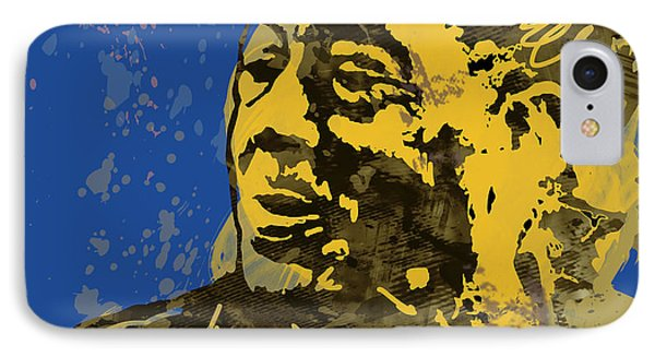 The Intimate Ellington Pop Stylised Art Sketch Poster IPhone Case by Kim Wang