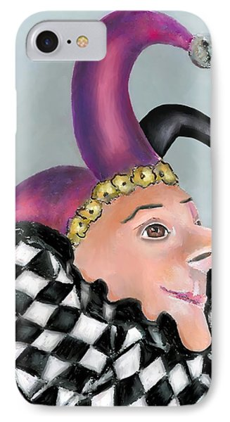 The Jester Phone Case by Arline Wagner