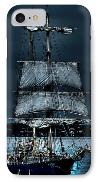 The Kaisei Brigantine Tall Ship IPhone Case by David Patterson