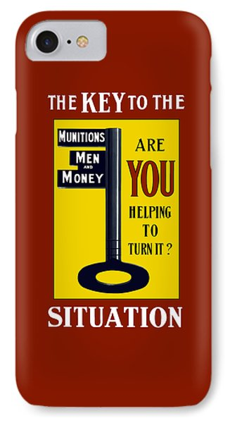 The Key To The Situation - Ww1 IPhone Case by War Is Hell Store