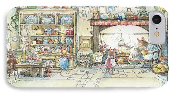 The Kitchen At Crabapple Cottage IPhone 7 Case by Brambly Hedge