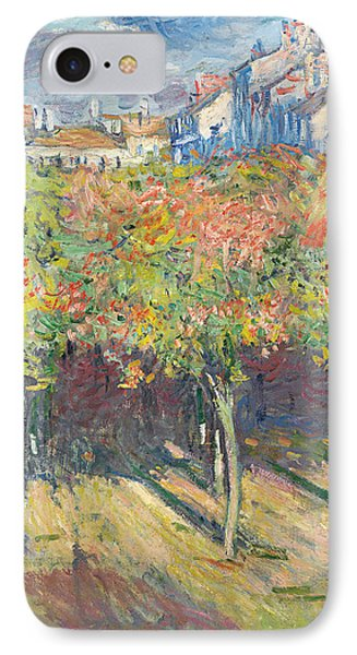 The Lime Trees At Poissy IPhone Case by Claude Monet