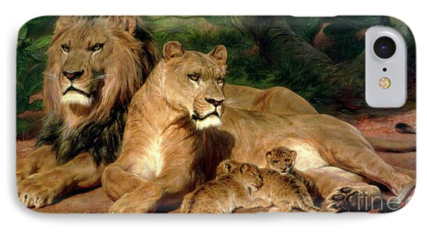 The Lions At Home Phone Case by Rosa Bonheur