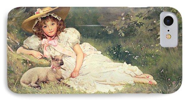 The Little Shepherdess IPhone Case by Arthur Dampier May
