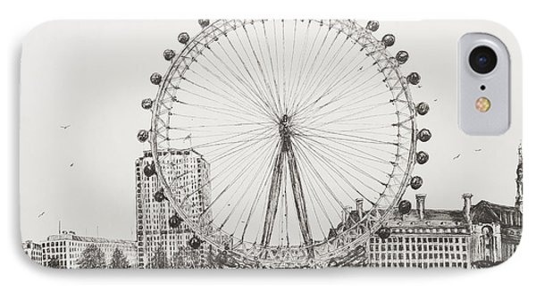 The London Eye IPhone Case by Vincent Alexander Booth