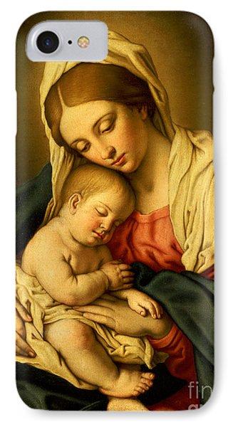 The Madonna And Child IPhone Case by Il Sassoferrato