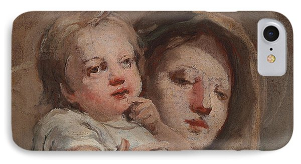 The Madonna And Child With A Goldfinch IPhone 7 Case by Tiepolo